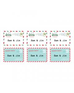 Postage Tags Mixed