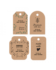 Handmade Tags Mixed