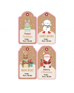 Standard Christmas Tags Mixed