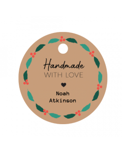 Wreath Handmade Tag