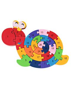 Letters and Numbers Wooden Snail Puzzle