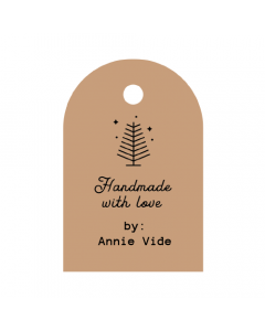 Tree Handmade Tag