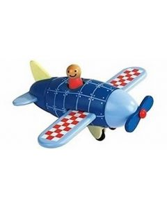 Wooden Aircraft with Magnetic Pieces
