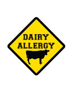 Kids Allergy Name Labels - Dairy