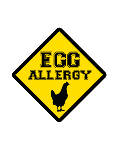 Kids Allergy Name Labels - Egg