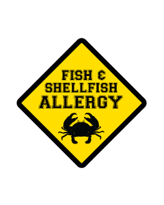 Kids Allergy Clothing Labels - Shellfish