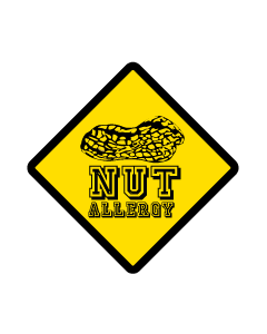 Kids Allergy Clothing Labels - Nuts