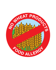 Kids Allergy Clothing Labels - Wheat