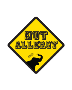 Kids Allergy Name Labels - Nut Allergy