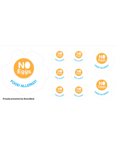 Kids Allergy Name Labels - No Egg