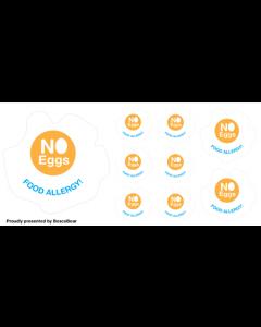 Kids Allergy Clothing Labels - No Egg
