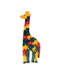 Alphabet and Numbers Wooden Giraffe Puzzle
