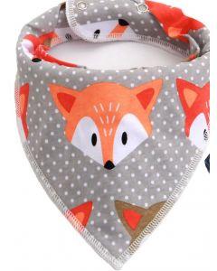 Washable Cotton Baby Bib Peeking Fox
