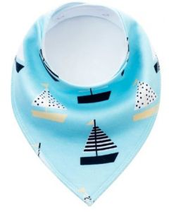 Washable Cotton Baby Bib Sailing