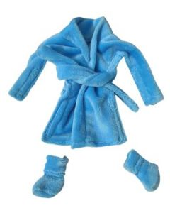 Christmas Cousin Clothes  Bath Robe Blue