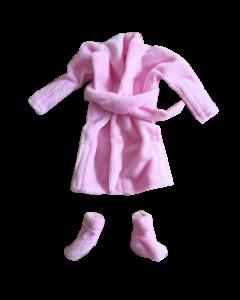 Christmas Cousin Clothes  Bath Robe Pink