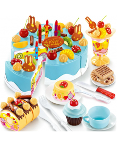 Party Cake Blue Cookware and Tea Set