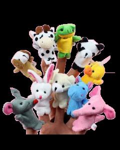 10 Piece Set Bush and Jungle Finger Puppets