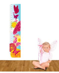 Butterflies Multi Coloured Growth Chart Pack