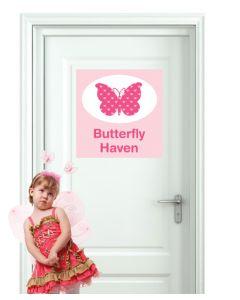 Door Sign - Butterfly Haven