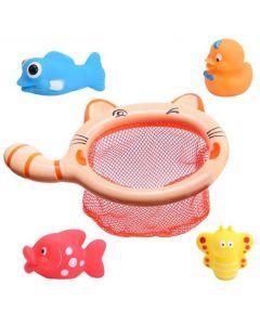 Water Bath Toy Fishing Net Cat