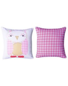 Themed Cushion - Cuddly Toys Owl - Light Pink (original)