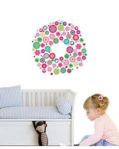 Danish Christmas Wreath Wall Stickers Pack