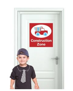 Door Sign Construction Multi Coloured Wall Sticker Pack
