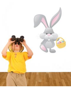 Easter Bunny Multi Coloured Giant Character Wall Sticker Pack