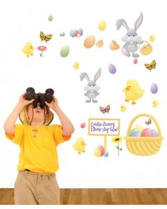 Easter Egg Hunt Multi Coloured Wall Stickers Pack