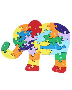 Kids Animal Wooden Elephant Toy 3D Puzzle Brinquedo Jigsaw Puzzle
