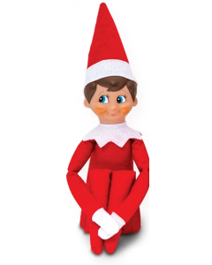 Elf on the Shelf Red Boy Light Skin Blue Eyes