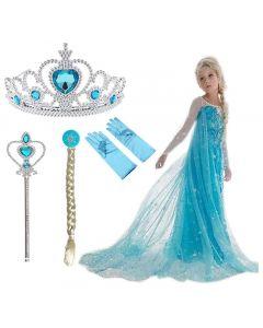 Princess Elsa Frozen Costume Five Piece Outfit