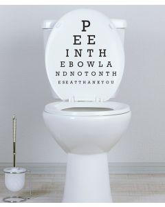 Eye Test Fun toilet seat sticker by LOLoo