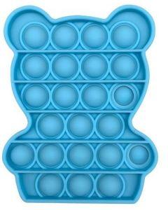 Silicone Bubble Fidget Sensory Toy Blue Bear
