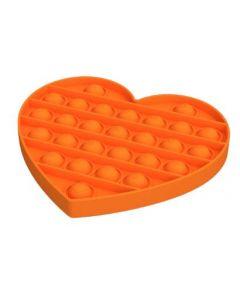 Silicone Bubble Fidget Sensory Toy Orange Heart