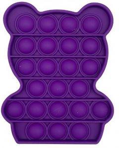 Silicone Bubble Fidget Sensory Toy Purple Bear