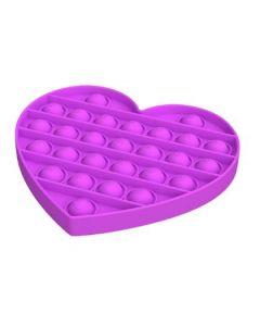 Silicone Bubble Fidget Sensory Toy Purple Heart