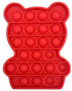 Silicone Bubble Fidget Sensory Toy Red Bear