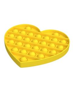 Silicone Bubble Fidget Sensory Toy Yellow Heart