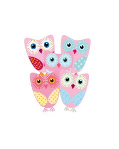 Five Cute Owls Name Labels