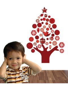 Floating Christmas Trees Wall Sticker Packs
