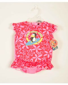 Float Suit - Pink Daisy no Sleeves