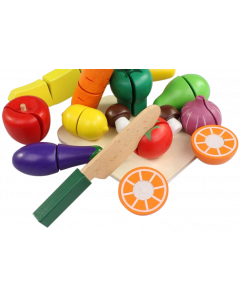 Wooden Food Chopping Play Set