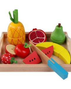 Wooden Fruit Chopping Play Set