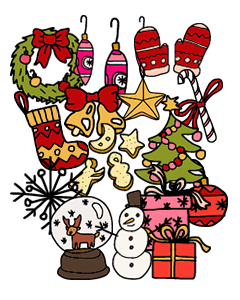 Home For The Holidays Clothing Labels