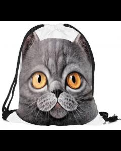 Kids Pussycat School Sport Swim Bag Drawstring Backpack