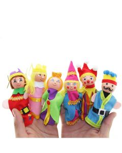 Kings and Queens 6 Piece Finger Toys Hand Puppet