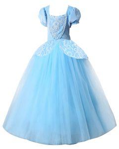 Kids Princess Long Ball Gown Dress