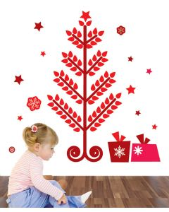 Leafy Christmas Wall Sticker Packs